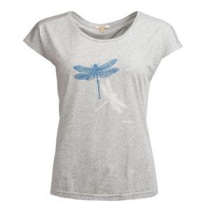 Barbour Womens Wansfell T-Shirt Light Grey Marl