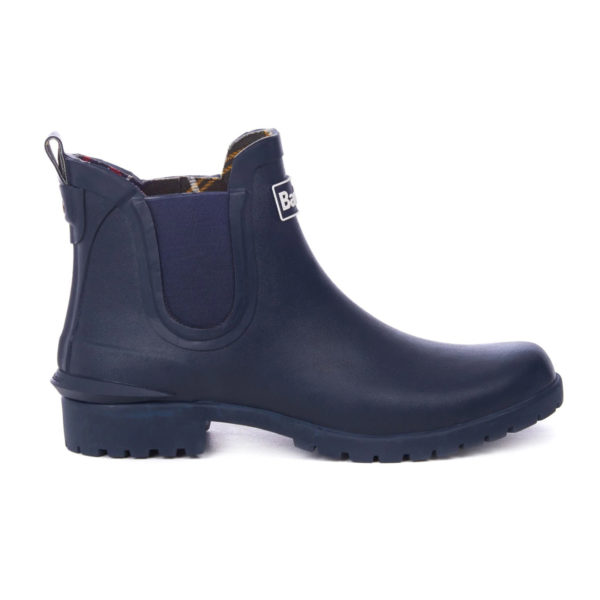 Barbour Womens Wilton Chelsea Wellington Navy