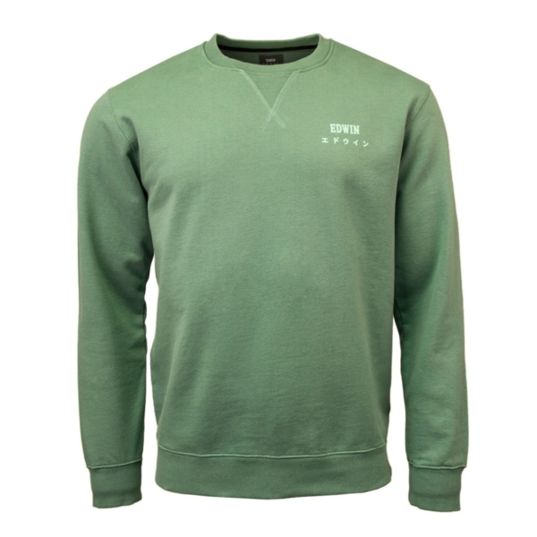 Edwin Base Crew Sweat Heavy Felpa Frosty Spruce