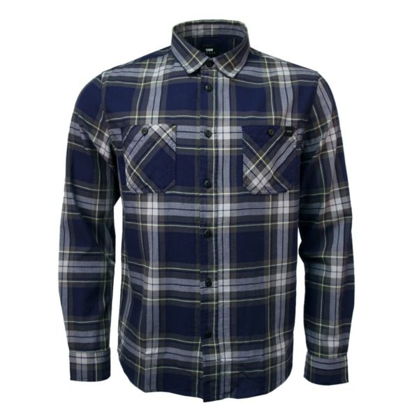 Edwin Labour Shirt Light Herringbone Flannel Navy