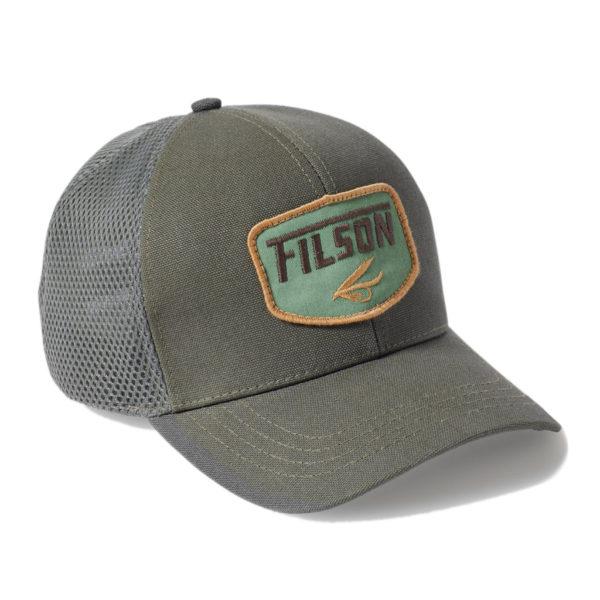 Filson Logger Mesh Cap Badge Balsam Green