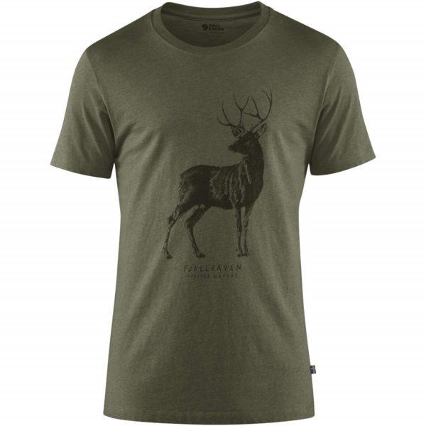 Fjallraven Deer Print T-Shirt Tarmac