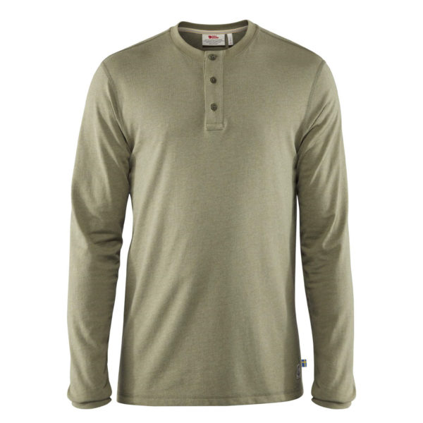 Fjallraven Greenland Re-Cotton Buttoned T-shirt Green