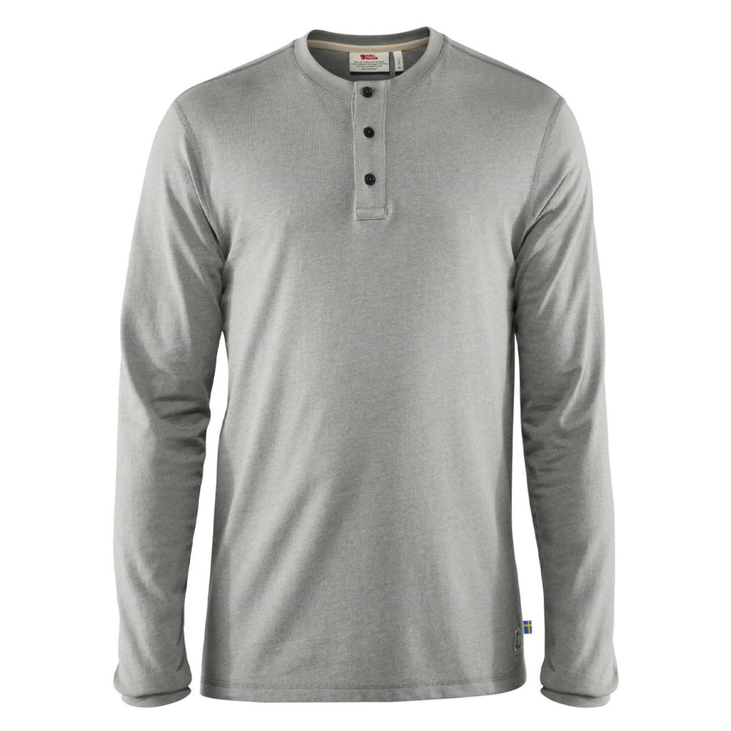 Fjallraven Greenland Re-Cotton Buttoned T-shirt Grey