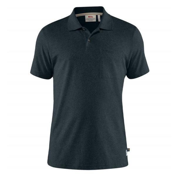 Fjallraven Greenland Re-Cotton Polo Shirt Dark Navy
