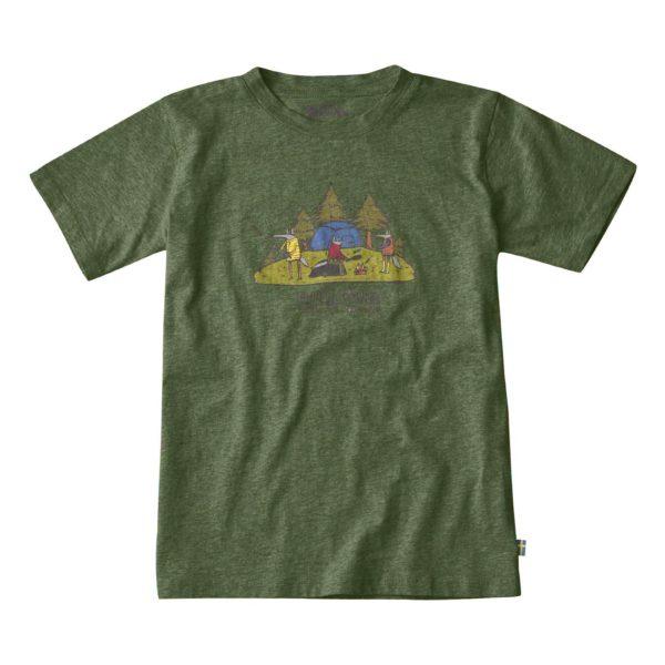Fjallraven Kids Camping Foxes T-Shirt Fern