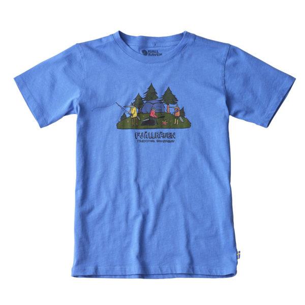 Fjallraven Kids Camping Foxes T-Shirt UN Blue