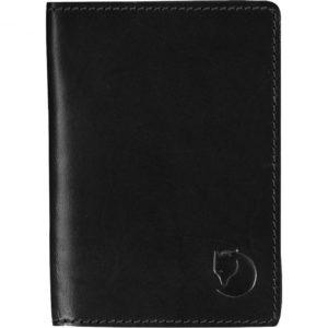 Fjallraven Leather Passport Cover Black