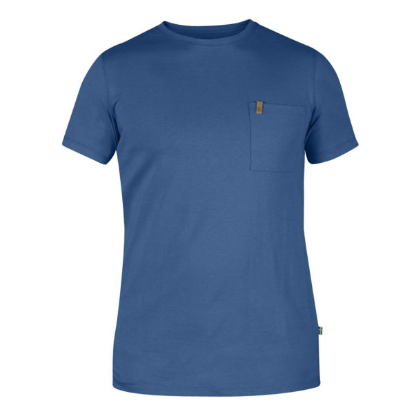 Fjallraven Ovik Pocket T-Shirt Uncle Blue