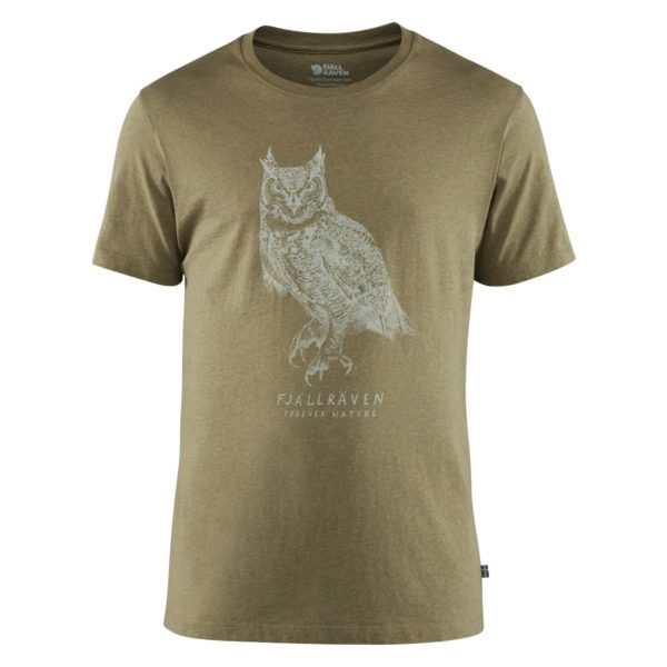 Fjallraven Owl Print T-Shirt Green