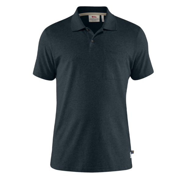 Fjallraven Greenland Re-Cotton Polo Shirt Dark Navy