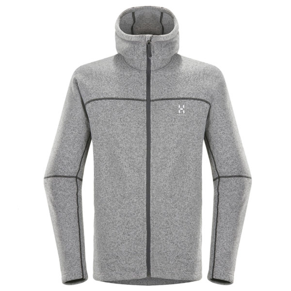Haglofs Swook Hooded Fleece Concrete / True Black
