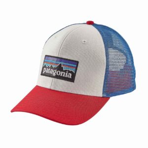 Patagoni P-6 Trucker Hat White Fire Andas Blue