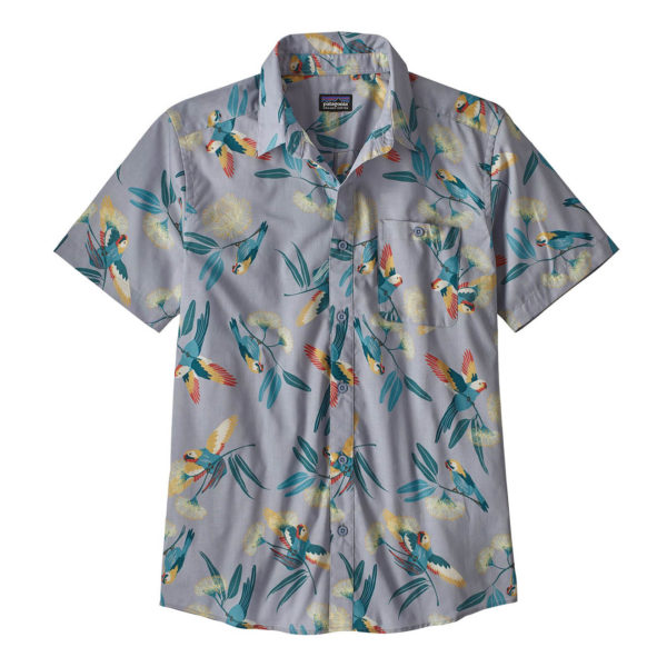 Patagonia Go To Shirt Parrots Ghost Purple