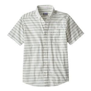 Patagonia Lightweight Bluffside Shirt Terrain Stripe Celadon