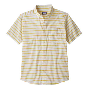 Patagonia Lightweight Bluffside Shirt Terrain Stripe Surfboard Yellow
