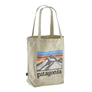 Patagonia Market Tote Line Logo Ridge Bleached Stone