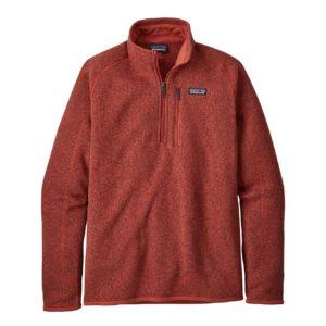 Patagonia Mens Better Sweater Quarter Zip Fleece New Adobe