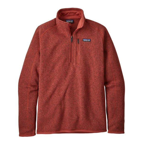 Patagonia Mens Better Sweater Quarter Zip Fleece New Adobe