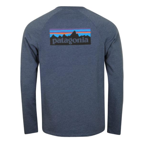 Patagonia P-6 Logo Lightweight Crew Sweatshirt Dolomite Blue