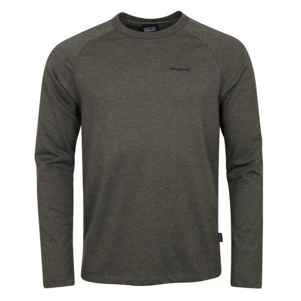 Patagonia P-6 Logo Lightweight Crew Sweatshirt Forge Grey