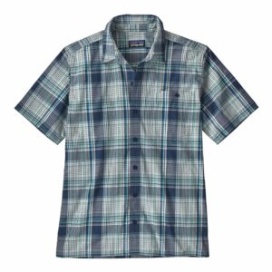 Patagonia Puckerware Shirt Canopy Plaid Stone