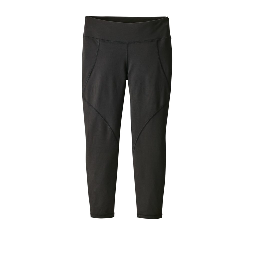 Patagonia Womens Centered Crops Black