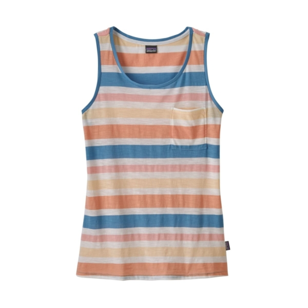Patagonia Womens Mainstay Tank Top Water Ribbons Port Blue