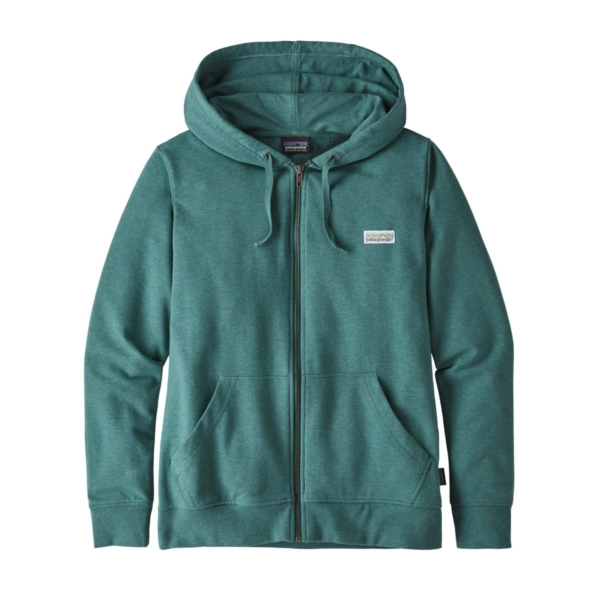 Patagonia Womens Pastel P-6 Label Ahnya Full Zip Tasmanian Teal