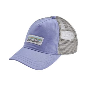 Patagonia Womens Pastel P-6 Label Layback Trucket Hat Light Violet Blue