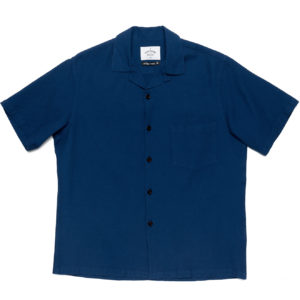 Portuguese Flannel Cruly Riviera Shirt Navy