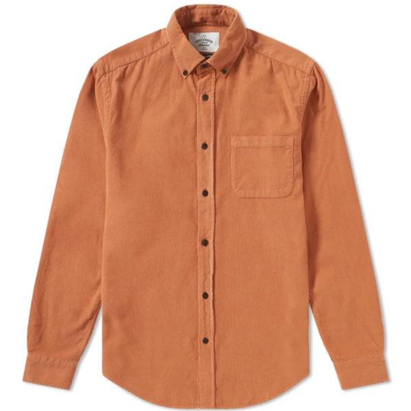 Portuguese Flannel Lobo Cord Shirt Brick