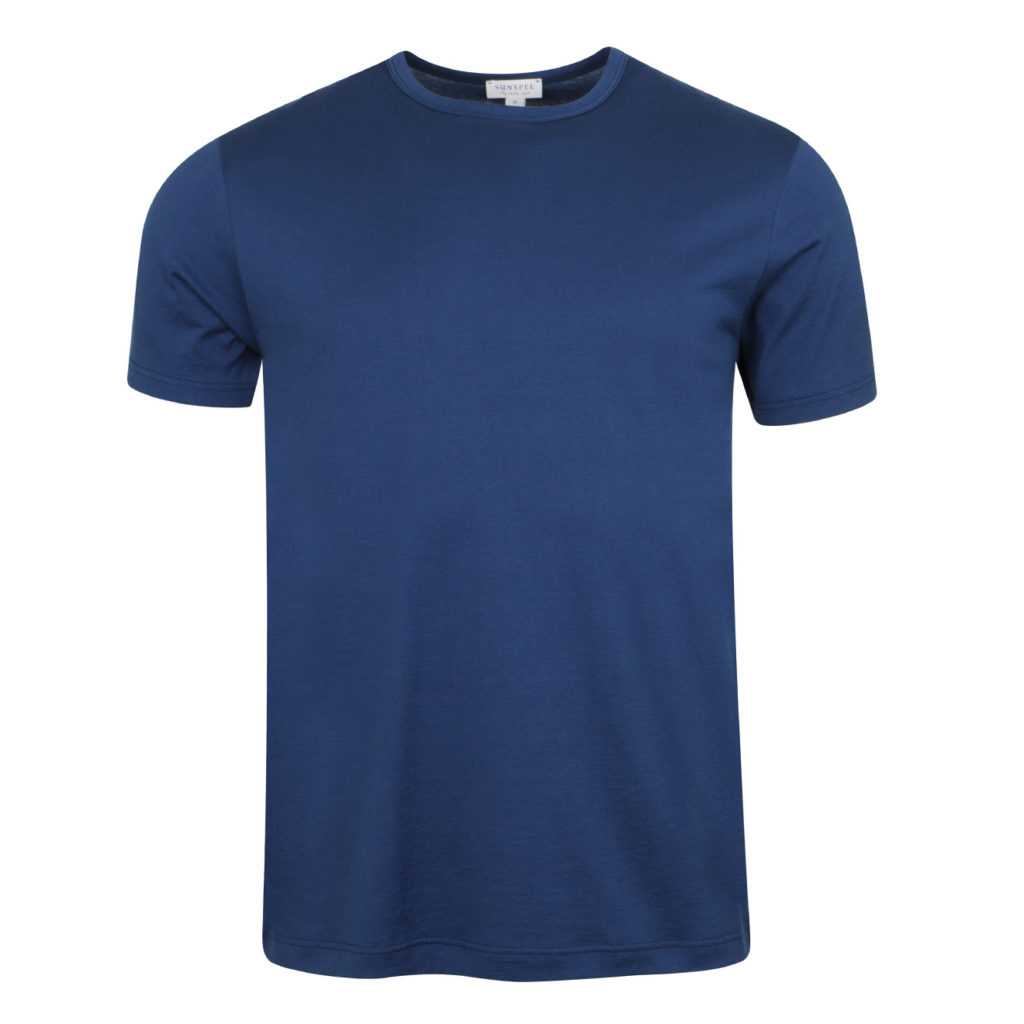 Sunspel Classic Crew T-Shirt Dark Indigo