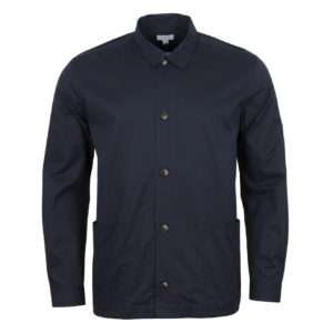 Sunspel Long Sleeve Shirt Jacket Navy 4