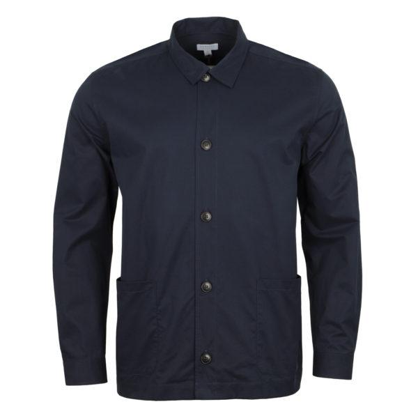 Sunspel Long Sleeve Shirt Jacket Navy 4