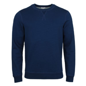 Sunspel Loopback Sweatshirt Real Indigo