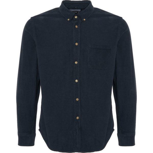 Portuguese Flannel Lobo Cord Shirt Navy
