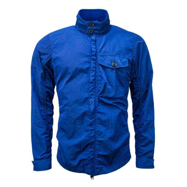 Baracuta Overshirt Garment Dyed Jacket Cobalt Blue