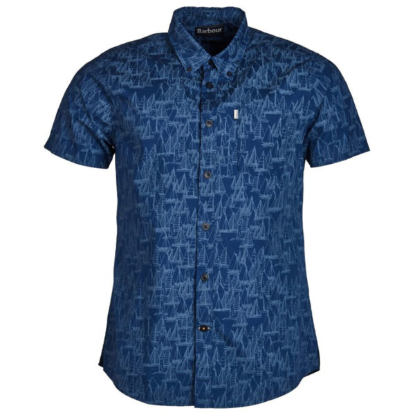 Barbour Boat S/S Shirt Inky Blue