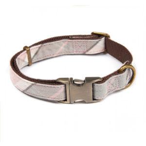 Barbour Dog Collar Pink / Grey Tartan