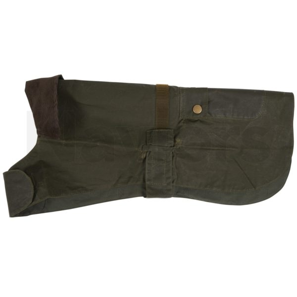 Barbour Lightweight Waxed Dog Coat Archive Olive