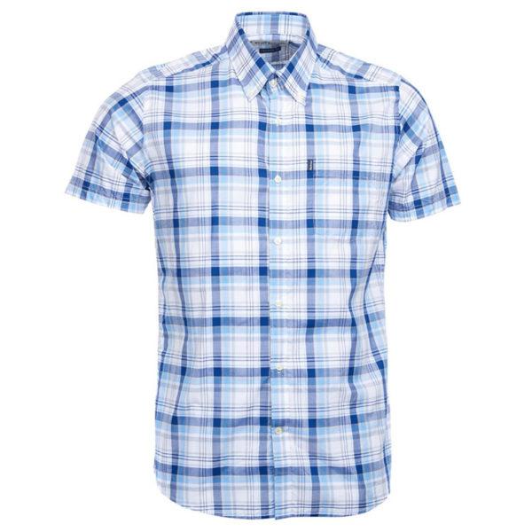 Barbour Madras 3 Tailored Shirt Blue