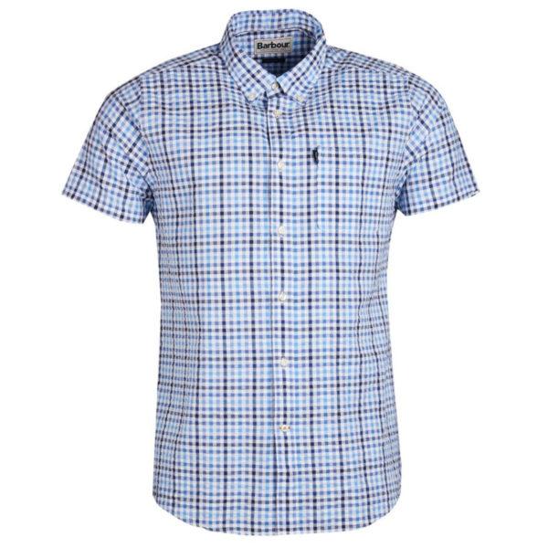 Barbour Seersucker 2 Shirt Navy