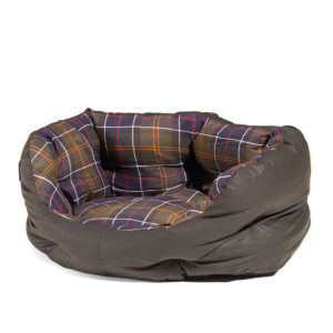 3b4432dd Barbour Wax Cotton Dog Bed 18 Inches Classic Tartan