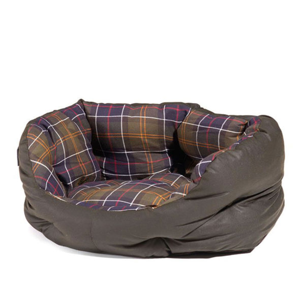 Barbour Wax Cotton Dog Bed 18 Inches Classic Tartan