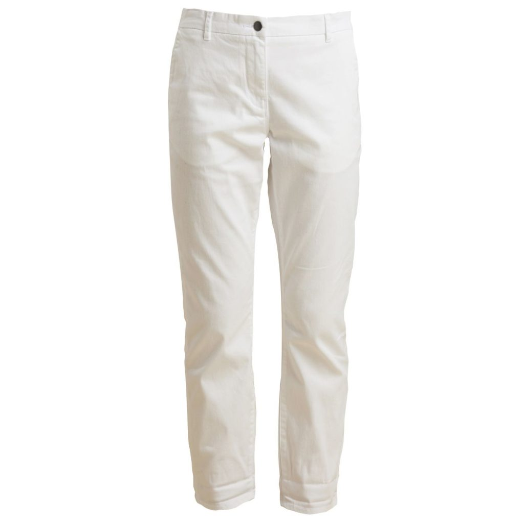 Barbour Womens Eiko Chino Trousers White