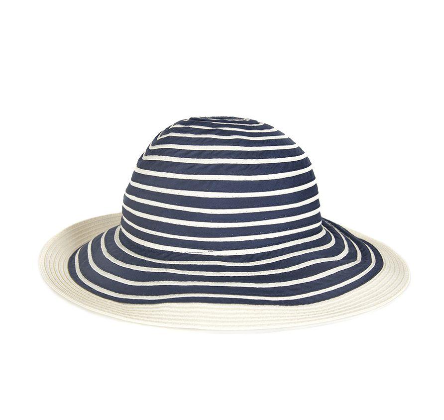 Barbour Womens Sealand Sun Hat Navy Stripe
