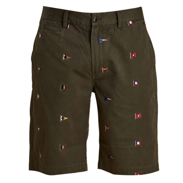 Barbour Flag Shorts Olive