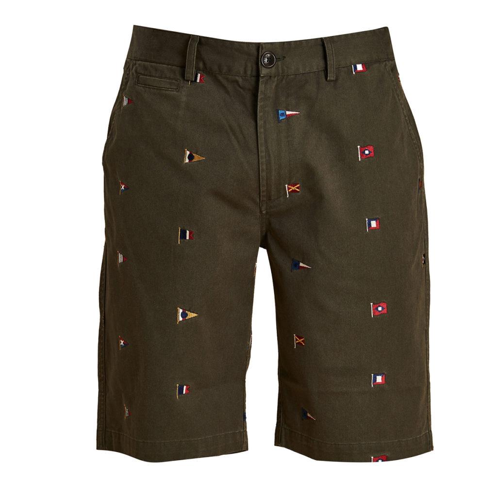 Barbour Flag Shorts Olive