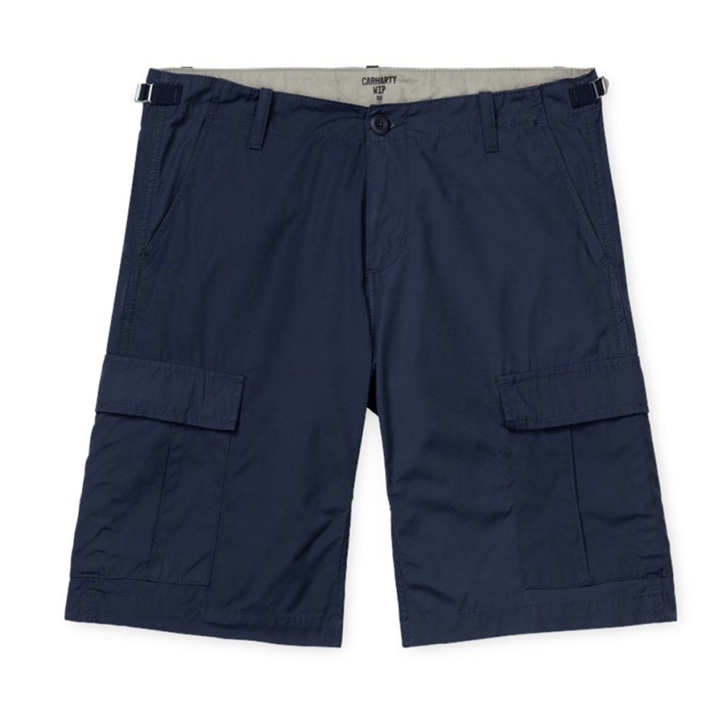 Carhartt Aviation Shorts 100% Cotton Dark Navy Rinsed